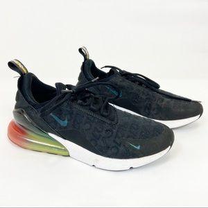 Nike Air270 Black With Orange Green Heel Sneaker